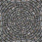 circular pattern in stones