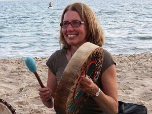 Sonraya Grace with shamanic drum