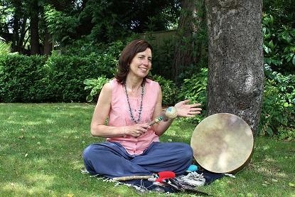 Sonraya Grace with shamanic rattle