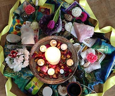 spring blessings and candle